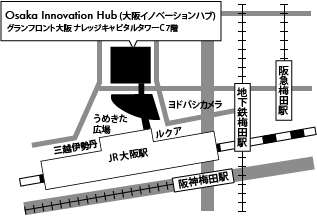 map for Osaka Innovation Hub